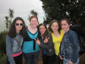 On the coast of Batumi, Georgia with some of my 10th graders
