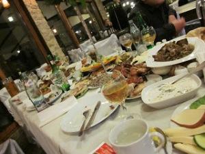Layers of Food at the Supra