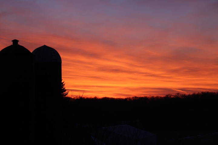 Sunset on the Farm in November